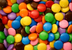 Coated chocolate candy