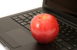Red Apple on Computer