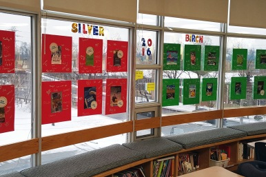 Silver Birch (Grades 5-6) – when each book is read, students sign their name to the matching book poster.