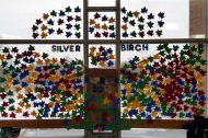 Silver Birch Express (Grades 3-4) – for each book read, students add their name to a leaf.